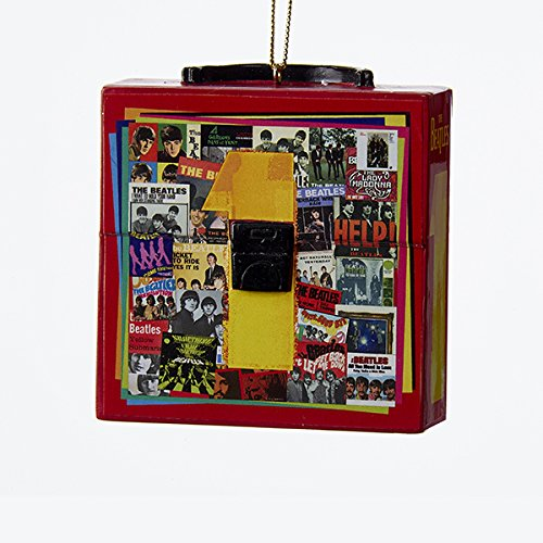 Beatles Red Record Case Album Cover Collage Christmas Tree Ornament BE2161 New