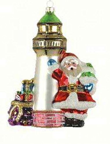 Cobane Studio LLC COBANEE355 Santa's Lighthouse Ornament