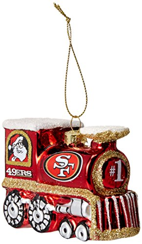 NFL San Francisco 49ers Train Ornament
