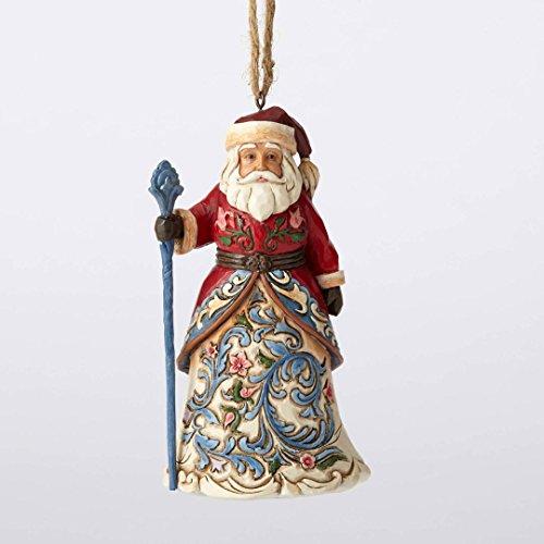 Jim Shore Heartwood Creek Norwegian Santa Hanging Ornament