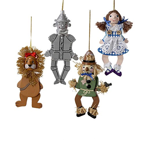Kurt Adler 4.5-inch Wonderful World of Oz Puppet Assortment, Set of 4