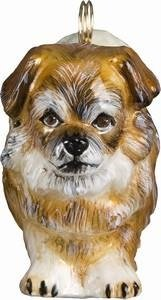 Tibetan Spaniel Polish Glass Christmas Ornament Dog Decoration