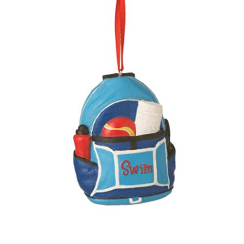 Swim Backbag Christmas Ornament