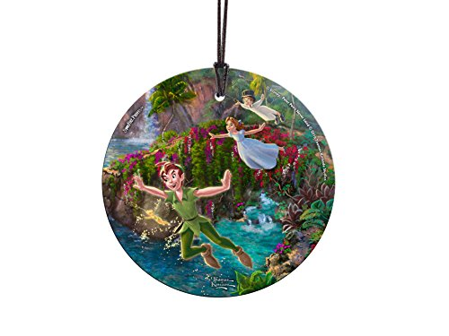 Disney (Peter Pan – Peter, Wendy, and John) StarFire Prints Glass Ornament – Home and Christmas Tree Decoration