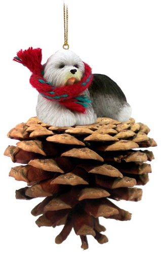 Conversation Concepts Old English Sheepdog Pinecone Pet Ornament