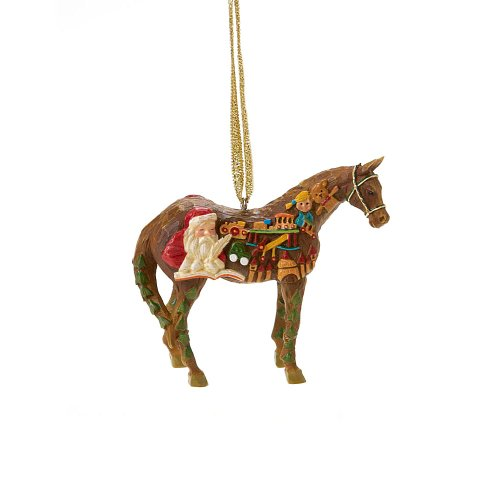 Trail of Painted Ponies Wooden Toy Horse Pony Hanging Ornament with Tin 2.38-Inch