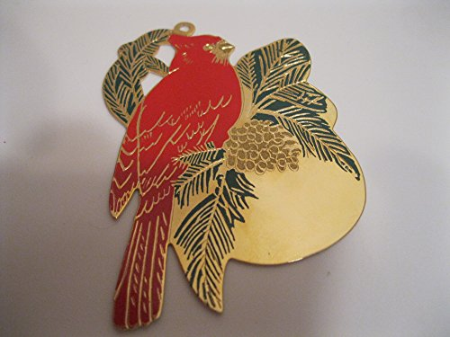 BIRD Christmas Ornament ENGRAVABLE Brass ENAMEL 3″ Collectible ; Jewelry for your Tree