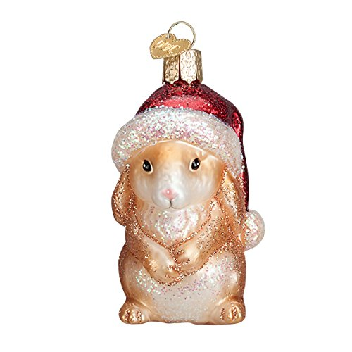 Old World Christmas Standing Bunny Glass Blown Ornament