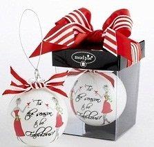 """Tis The Season"" Ornament by Mud Pie"