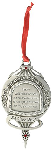 Cathedral Art CO746 We Miss You if Tears Could Build a Stairway Memorial Ornament, 4-5/8-Inch