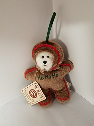 Ho Ho Ho Boyds Bear as Gingerbread Man Ornament