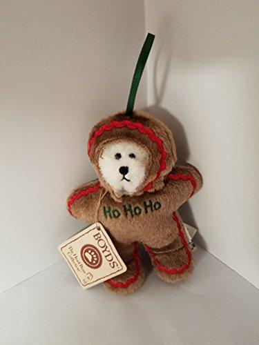 Ho Ho Ho Boyds Bear as Gingerbread Man Ornament