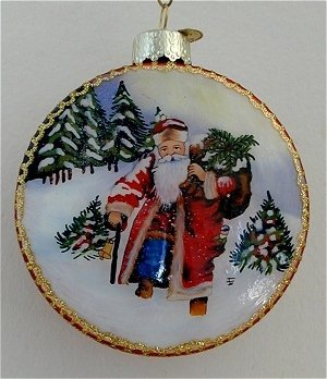 Old World Christmas – Santa- Inside Art Ornament