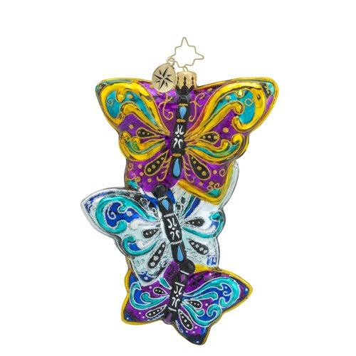Christopher Radko Fluttering Elegance Animal Christmas Ornament