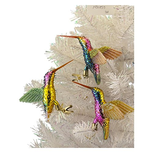 Kurt Adler 5″ Noble Gems Glass Hummingbird Ornament
