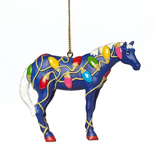 The Trail of Painted Ponies Tangled Christmas Lights Pony Horse Ornament by The Trail of Painted Ponies