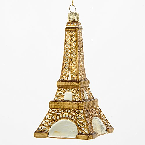Kurt Adler 4.25″ Noble Gems Glass Eiffel Tower Ornament
