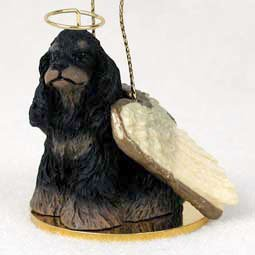 Cocker Spaniel Angel Dog Ornament – Black & Brown
