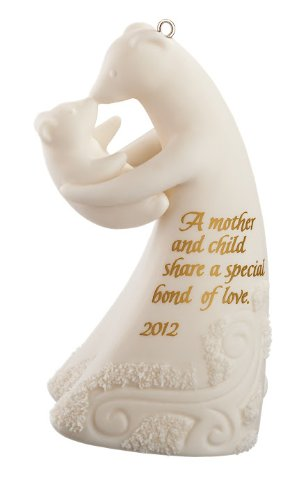 Mom And Child Polar Bears 2012 Carlton Heirloom Ornament