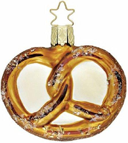 Inge Glas Heirlooms Oktoberfest Pretzel German Glass Christmas Ornament FREE BOX