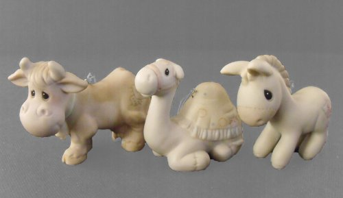 Precious Moments Ornaments CAMEL, DONKEY & COW – 3 PC – Ornament Set