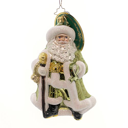Christopher Radko Considerate Claus Charity Awareness Santa Claus Christmas Ornament