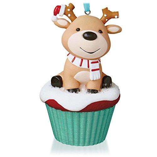Salty and Sweet Reindeer Keepsake Cupcake Ornament 2015 Hallmark