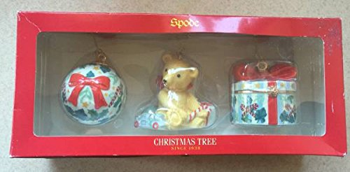 Spode 3 piece Christmas Ornament set