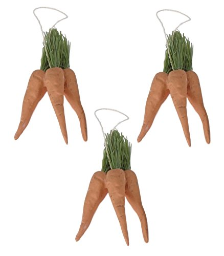 Bethany Lowe Bunch of Mini Carrots Ornaments Set of 3