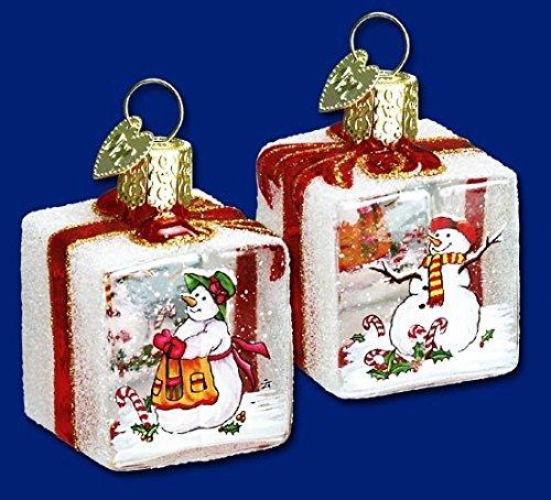 Old World Christmas-Candy Cane Snowman-Inside Art