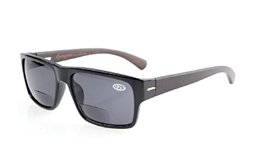 Herina, Men Bifocal Sunglasses Design Classic – Bifocal Sunglasses (+200, Black)