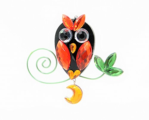 Ganz Crystal Thanksgiving Expressions Acrylic 3.5″ Fall Owl Ornament (Design 4)