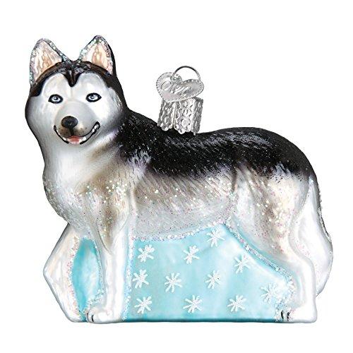 Old World Christmas Siberian Husky, 3.5″