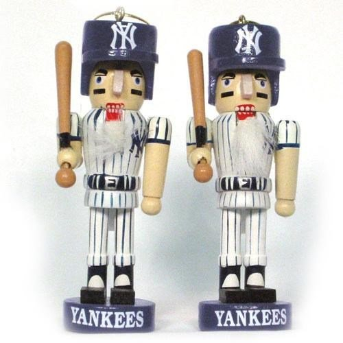 MLB New York Yankees Mini Nutcracker Ornament Set