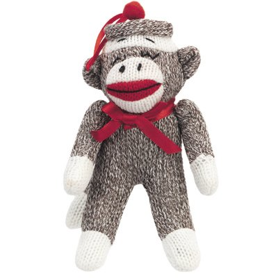 Sock Monkey Original Ornament