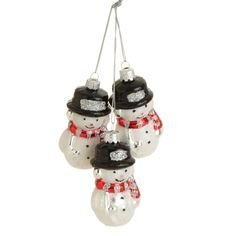 RAZ – Holiday on Ice 8 inch Snowman Cluster Ornament