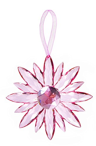 Flower Small Crystal Expressions 7 Inch Acrylic Hanging Jewel Ornament – Light Pink