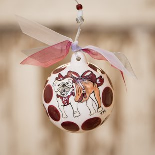 Glory Haus Mississippi State Ball Ornament, 4 by 4-Inch