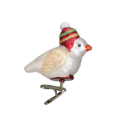 Old World Christmas Snowbird Glass Blown Ornament