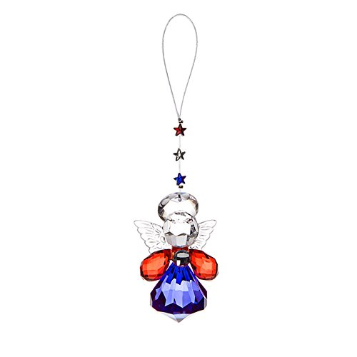 Patriotic Angel Ornament by Ganz 4-1/2 in ACRY-272