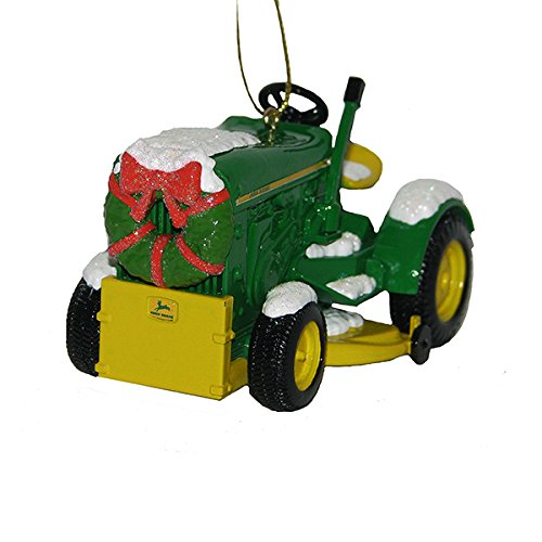 Kurt Adler John Deere 1963 Model 110 Tractor With Wreath Christmas Ornament