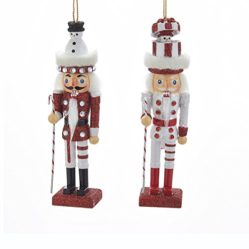 Kurt Adler 1 Set 2 Assorted 6 Inch Hollywood Nutcracker With Snowmen Ornaments