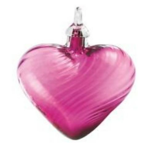 Glass Eye Studio Heart Cranberry Twist Ornament