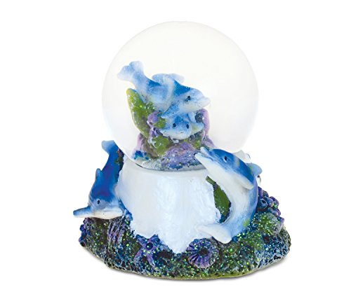 Puzzled Underwater Nirvana Snow globe (45mm) Handcrafted Table Top Resin Snow Globe Decoration – Ocean / Sea Life Theme – Unique Elegant Gift and Souvenir – Item #9152