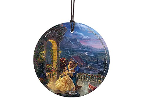 Disney Beauty and the Beast Dancing in the Moonlight StarFire Prints Glass Ornament – Home and Christmas Tree Decoration