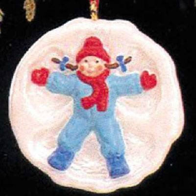 Snow Angel 1990 Miniature Hallmark Ornament QXM5773