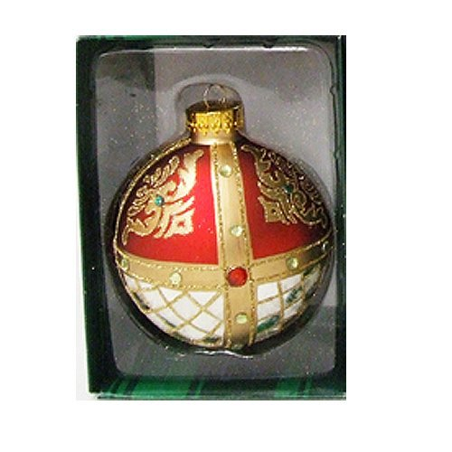 Kurt Adler Ornaments GG0439-D Color Jewel Ball Ornament