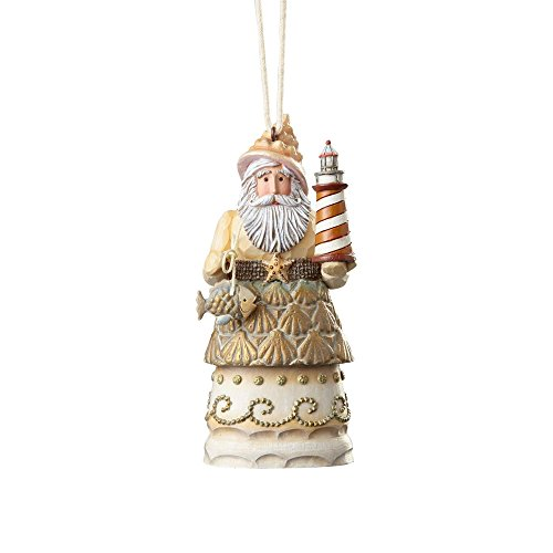 Enesco River's End by Jim Shore Coastal Santa w/Lighthouse Ornament