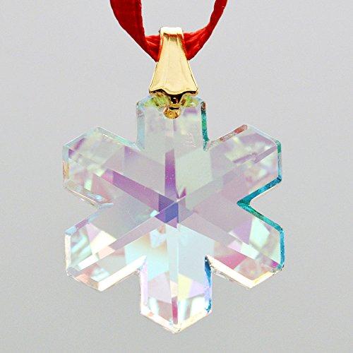 Swarovski 20mm Aurora Borealis Crystal Snowflake Prism