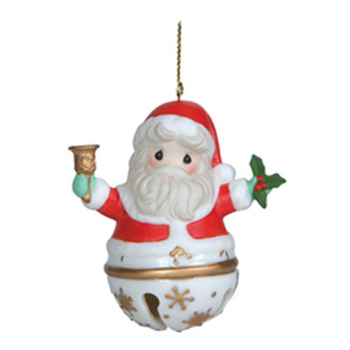 Precious Moments Santa Jingle Bell Hanging Ornament